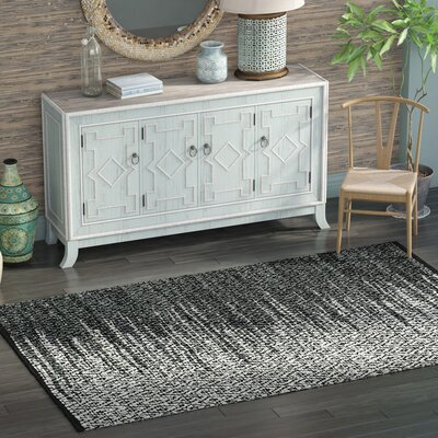Logan Hand-Woven Light Grey/Charcoal Area Rug Rug Size: Runner 23 x 9