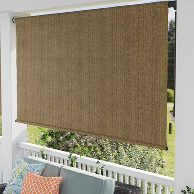95% UV Block Blackout Brown Outdoor Roller Shade Size: 96 W x 96 L, Color: Walnut