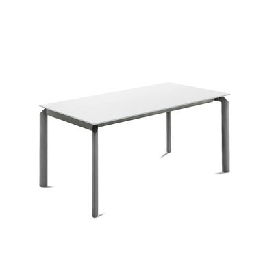 Energy Extendable Dining Table Base Color: Anthracite, Top Color: White
