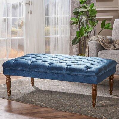 Bridge Cocktail Ottoman Upholstery: Cobalt