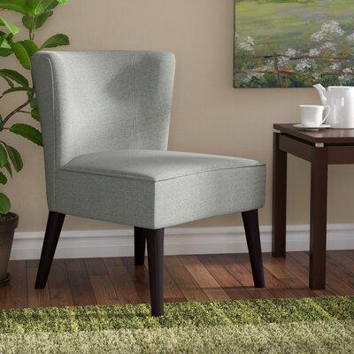Lasalle Slipper Chair Upholstery: Light Green/Gray