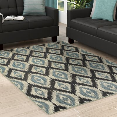 Dracut Vue Blue Area Rug Rug Size: Rectangle 53 x 76