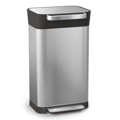 Intelligent Waste Titan Stainless Steel 8 Gallon Step-On Trash Can Compactor 30030