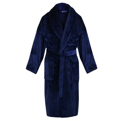 100% Turkish Cotton Terry Velour Shawl Bathrobe