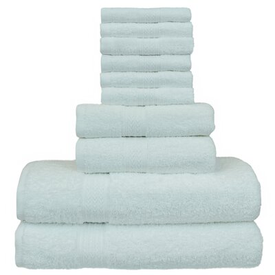 Isiah Eco Dobby Border 10 Piece Towel Set