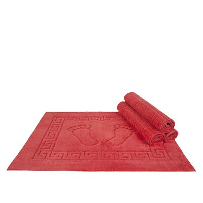 Mcgreevy Polyester Bath Rug Color: Coral