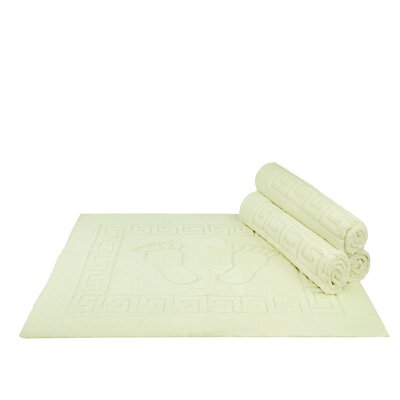 Mcgreevy Polyester Bath Rug Color: Cream