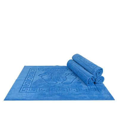 Mcgreevy Polyester Bath Rug Color: Blue