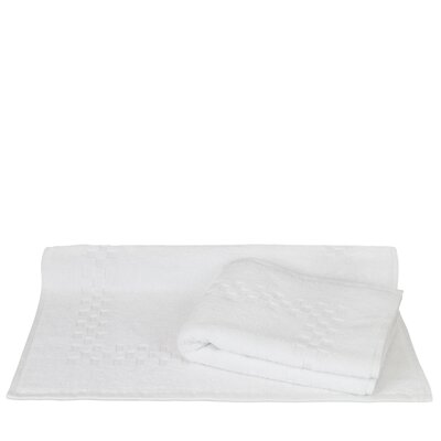 Isiah 100% Pure Cotton Checkered Pattern Bath Rug