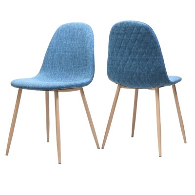 Wuest Upholstered Dining Chair Upholstery Color: Blue