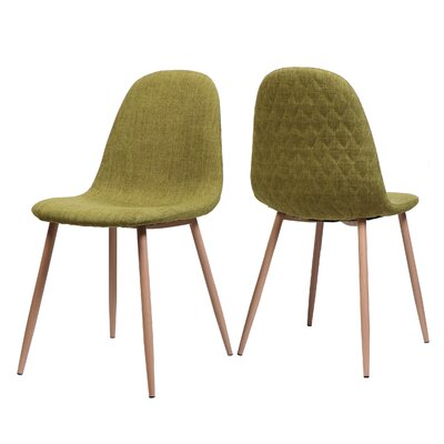 Wuest Upholstered Dining Chair Upholstery Color: Green