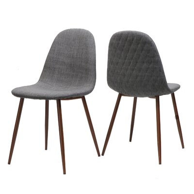Wuest Upholstered Dining Chair Upholstery Color: Light Gray