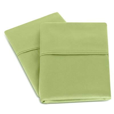Isiah Cotton Pillow Case Color: Green