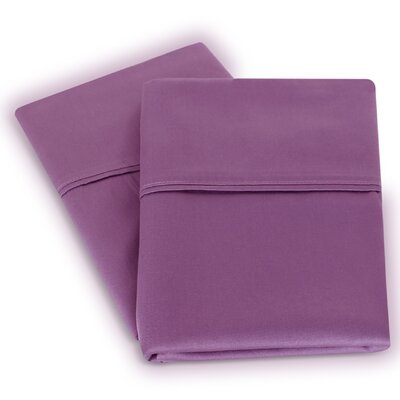 Isiah Cotton Pillow Case Color: Purple