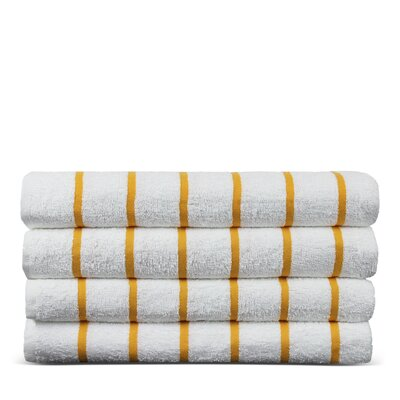 Wellston Turkish Natural Cotton Pool Striped Beach Towel Color: Yellow