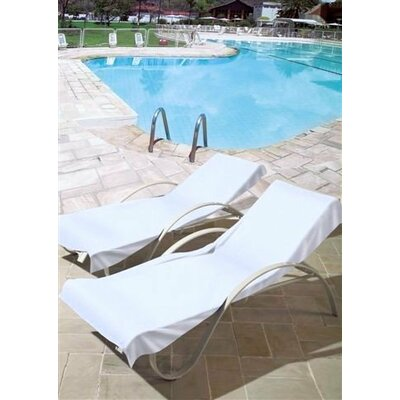 Image of 100% Cotton Towel Patio Chaise Lounge Cover Color: Beige