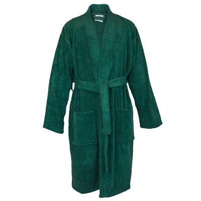 100% Turkish Cotton Terry Kimono Bathrobe Size: One Size