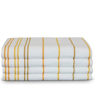 Wellston Turkish Cotton Pool Striped Beach Towel Color: Yellow Gold