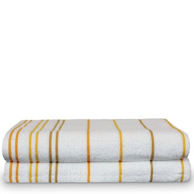 Springhill 100% Pure Cotton Pool Striped Beach Towel Color: Yellow Gold