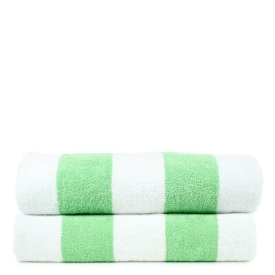 Isiah 100% Natural Cotton Pool Beach Towel Color: Green