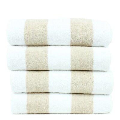 Isiah 100% Cotton Pool Beach Towel Color: Beige