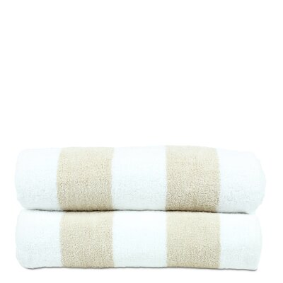 Isiah 100% Natural Cotton Pool Beach Towel Color: Beige