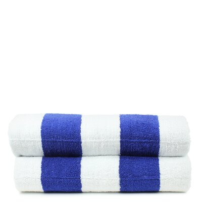 Isiah 100% Natural Cotton Pool Beach Towel Color: Blue
