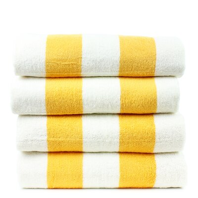 Isiah 100% Cotton Pool Beach Towel Color: Yellow