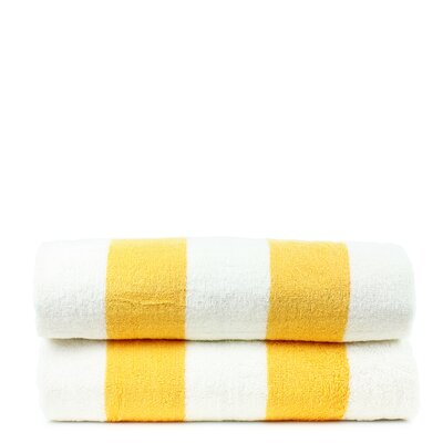 Isiah 100% Natural Cotton Pool Beach Towel Color: Yellow