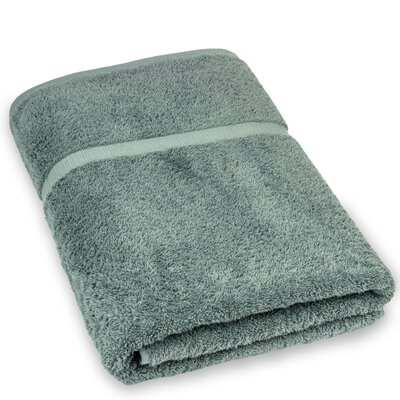 Wellston Turkish Cotton Oversize Large Bath Towel Color: Gray