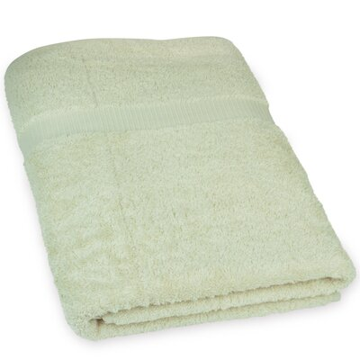 Wellston Turkish Cotton Oversize Large Bath Towel Color: Cream