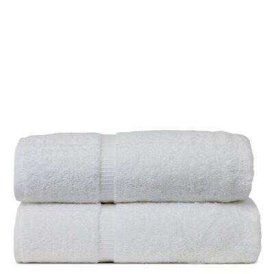 Wellston Turkish Cotton Dobby Border Bath Towel Color: White