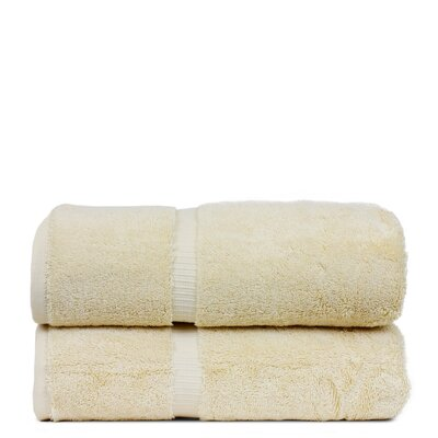 Wellston Turkish Cotton Dobby Border Bath Towel Color: Beige