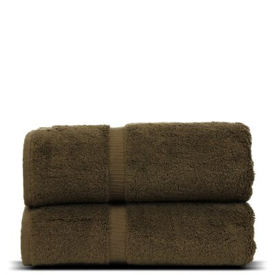Wellston Turkish Cotton Dobby Border Bath Towel Color: Cocoa