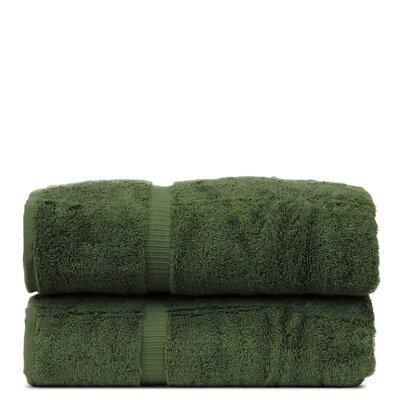 Wellston Turkish Cotton Dobby Border Bath Towel Color: Moss