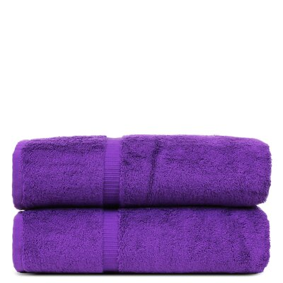 Wellston Turkish Cotton Dobby Border Bath Towel Color: Eggplant
