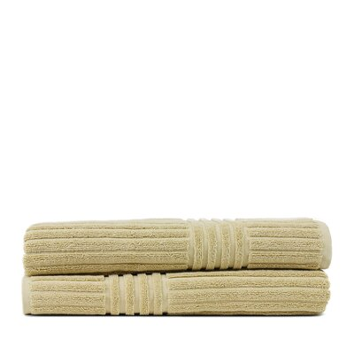 Wellston 100% Pure Turkish Cotton Ribbed Channel Pattern Bath Towel Color: Driftwood