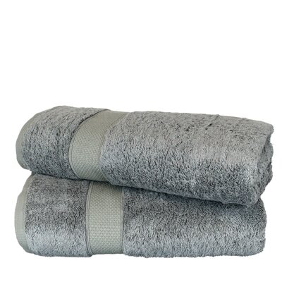 Wellston Rayon Bath Towel Color: Gray