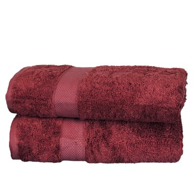 Wellston Rayon Bath Towel Color: Cranberry