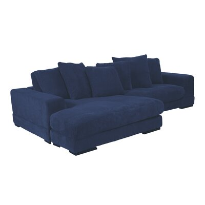 Timmins Reversible Sectional Upholstery: Blue