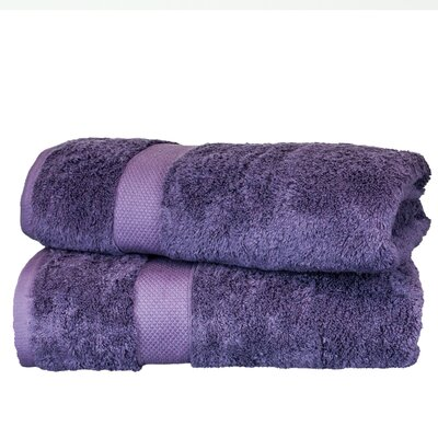 Wellston Rayon Bath Towel Color: Plum