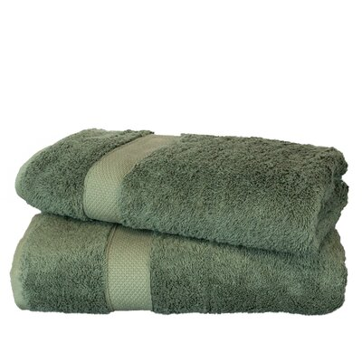 Wellston Rayon Bath Towel Color: Moss