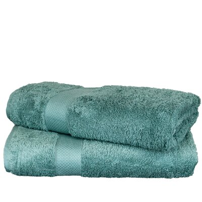 Wellston Rayon Bath Towel Color: Green