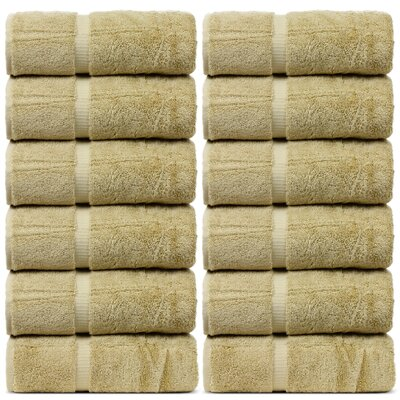 Yogyakarta Turkish Dobby Border Wash Cloth Color: Driftwood