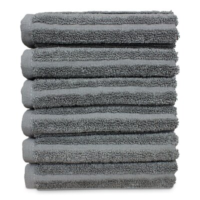 Mckenzie 100% Turkish Cotton Washcloth Color: Gray