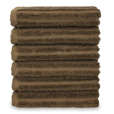 Mckenzie 100% Turkish Cotton Washcloth Color: Cocoa