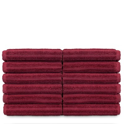 Mckenzie 100% Turkish Cotton Washcloth Color: Cranberry