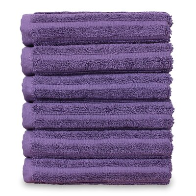 Mckenzie 100% Turkish Cotton Washcloth Color: Plum