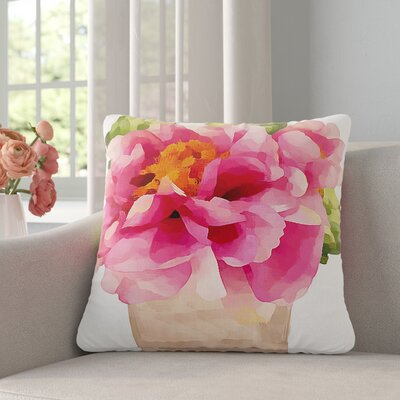 Oriana Cordero Peonies Outdoor Throw Pillow Size: 16 H x 16 W x 5 D