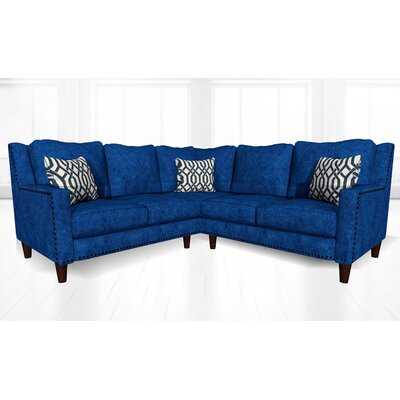 Mervela Sectional Upholstery: Navy